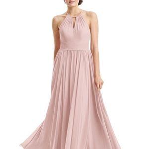 Dusty rose key hole bridesmaid dress